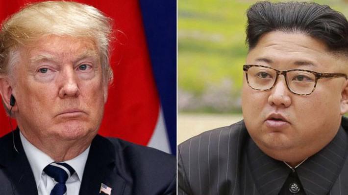 Tổng thống Mỹ Donald Trump (trái) và nhà lãnh đạo Triều Tiên Kim Jong Un - Ảnh:AP, KCNA.