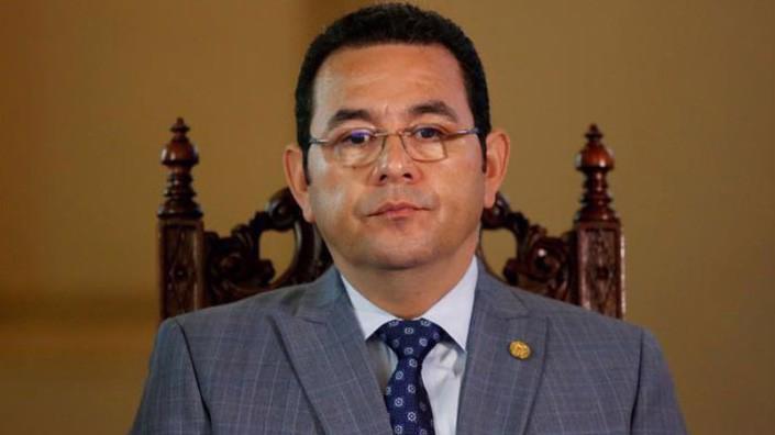 Tổng thống Jimmy Morales của Guatemala - Ảnh: Reuters.