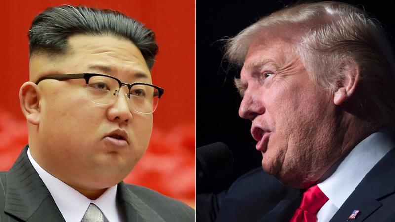 Nhà lãnh đạo Triều Tiên Kim Jong Un (trái) và Tổng thống Mỹ Donald Trump.