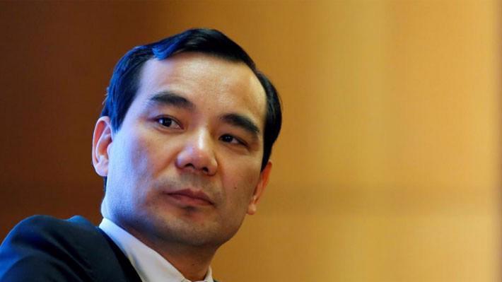Chủ tịch hãng bảo hiểm Trung Quốc Anbang, ông Wu Xiaohui, tại một sự kiện hồi tháng 3/2017 - Ảnh: Reuters.