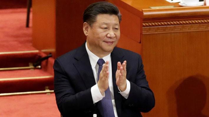 Ông Tập Cận Bình tại cuộc bỏ phiếu thông qua Hiến pháp sửa đổi của Trung Quốc ở Đại lễ đường Nhân dân, Bắc Kinh, ngày 11/3 - Ảnh: Reuters.