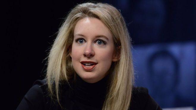 Elizabeth Holmes, nhà sáng lập start-up Theranos - Ảnh: Getty/BBC.