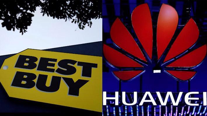 Best Buy có thể sắp dừng bán điện thoại Huawei - Ảnh: Reuters.