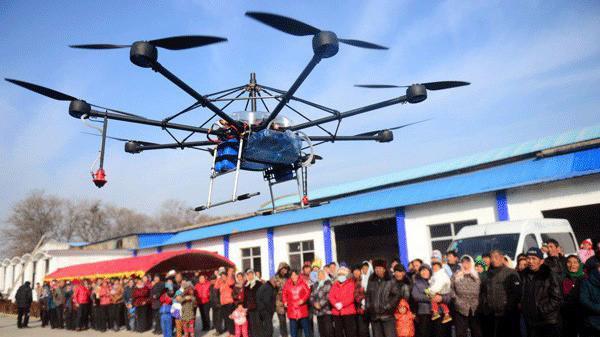 Một thiết bị bay không người lái do Trung Quốc sản xuất - Ảnh: China Daily.