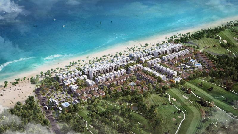 Phối cảnh khu đô thị FLC Lux City - The Ocean Village thuộc FLC Quảng Bình.