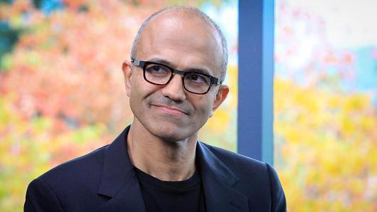 Ông Satya Nadella, Giám đốc điều hành (CEO) của Microsoft - Ảnh: CNBC.