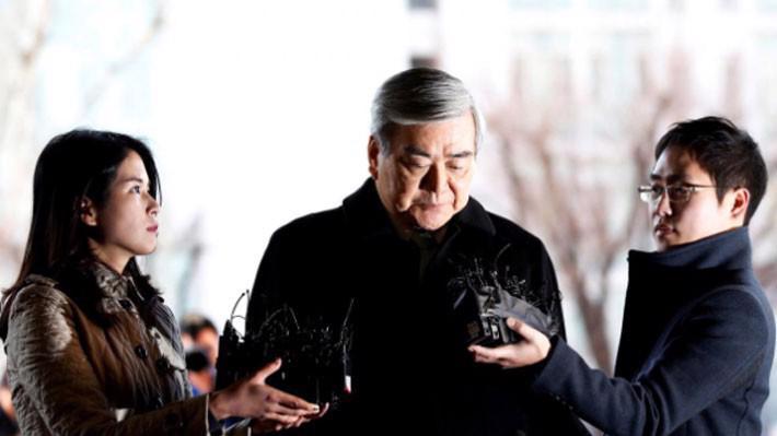 Chủ tịch Cho Yang-ho của Korean Air Lines trong một lần xuất hiện ở tòa án tại Seoul, tháng 1/2018 - Ảnh: Reuters.