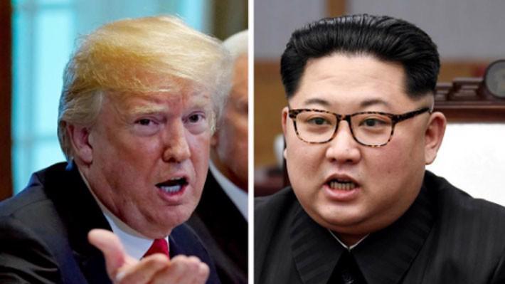 Tổng thống Mỹ Donald Trump (trái) và nhà lãnh đạo Triều Tiên Kim Jong Un - Ảnh: Reuters.