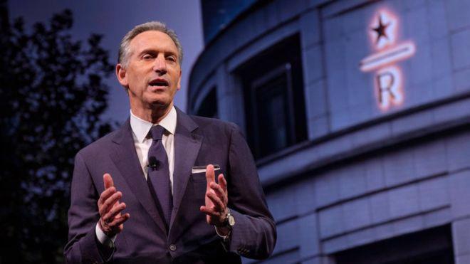 Ông Howard Schultz, Chủ tịch điều hành Starbucks - Ảnh: Getty/BBC.
