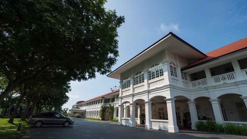 Khách sạn Capella, nơi sẽ diễn ra cuộc gặp thượng đỉnh Mỹ-Triều ngày 12/6 - Ảnh: Bloomberg.