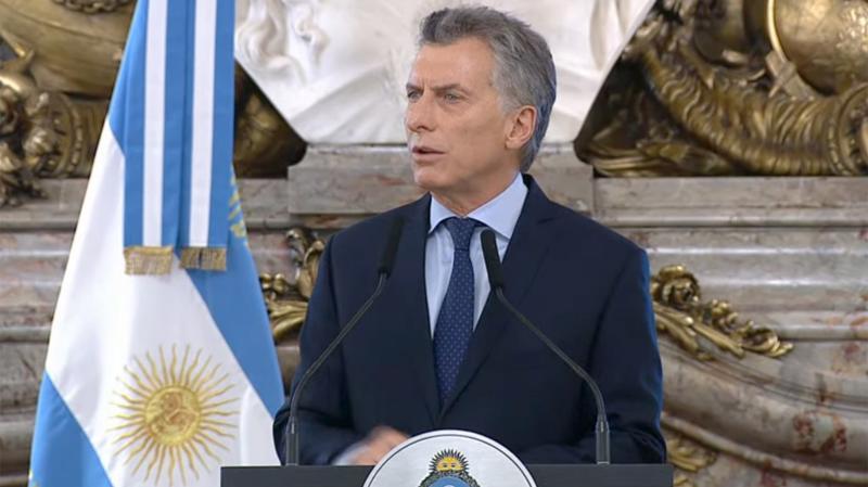Tổng thống Argentina Mauricio Macri.