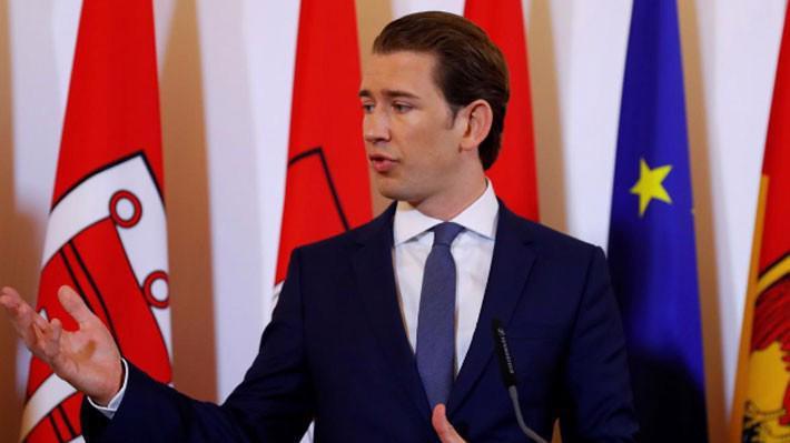 Thủ tướng Áo Sebastian Kurz trong cuộc họp báo ở Vienna ngày 8/6 - Ảnh: Reuters.