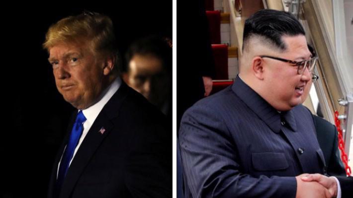 Tổng thống Mỹ Donald Trump (trái) và nhà lãnh đạo Triều Tiên Kim Jong Un khi đến Singapore ngày 10/6 - Ảnh: Reuters.