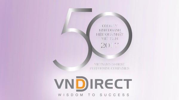 Để có tên trong bảng xếp hạng này, VNDirect đã chứng minh kết quả kinh doanh liên tiếp trong 3 năm.