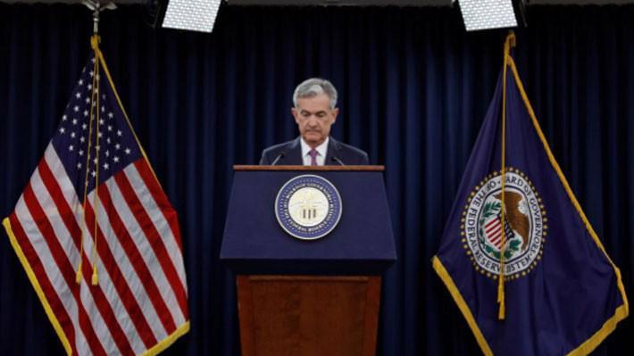Chủ tịch FED Jerome Powell trong cuộc họp báo ngày 13/6 - Ảnh: Reuters.