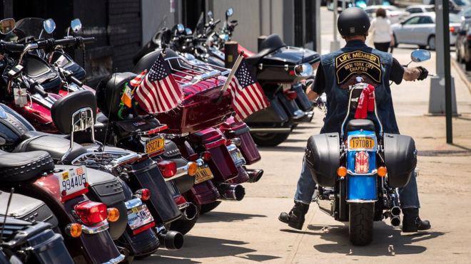 Xe mô tô Harley-Davidson là một biểu tượng của văn hóa Mỹ - Ảnh: Getty/BBC.