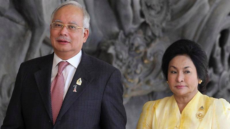 Vợ chồng cựu Thủ tướng Malaysia Najib Razak - Ảnh: Al Jazeera.