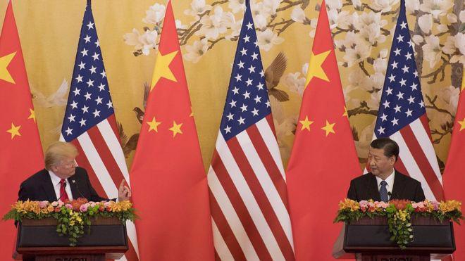 Tổng thống Mỹ Donald Trump (trái) và Chủ tịch Trung Quốc Tập Cận Bình - Ảnh: Getty/BBC.