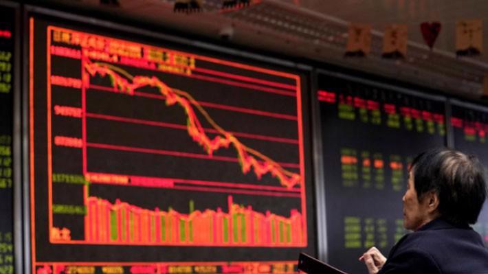 Các nhà đầu tư chứng khoán Trung Quốc đại lục đang bị đè nặng bởi nỗi lo tăng trưởng kinh tế suy giảm trong bối cảnh cuộc chiến thương mại giữa nước này với Mỹ tiếp tục leo thang.