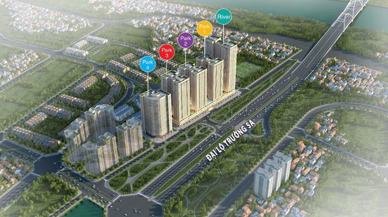 Phối cảnh Khu đô thị cao cấp Eurowindow River Park, Đông Hội, Hà Nội.