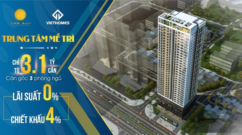 Chủ đầu tư dự án The Sun sẽ dành nhiều ưu đãi cho khách hàng mua căn hộ từ ngày 1/10/2018.