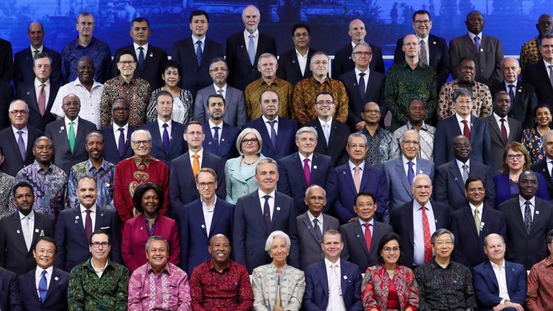 Các quan chức tài chính dự hội nghị thường niên IMF và WB tại Bali, Indonesia - Ảnh: Bloomberg.