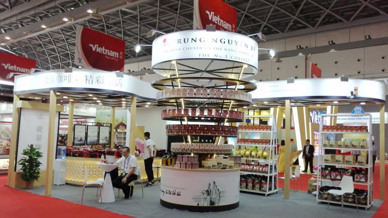 Sản phẩm cà phê năng lượng của Trung Nguyên Legend luôn là thương hiệu cà phê Việt Nam tiêu biểu tham gia tất cả các hội chợ triển lãm, sự kiện lớn mang tính quốc tế tại thị trường Trung Quốc.