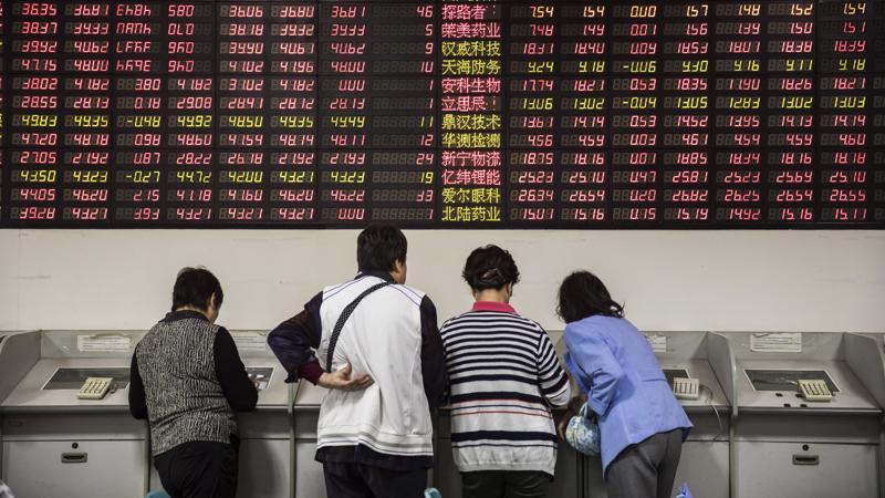 """Từ tháng 1 đến nay, thị trường chứng khoán Trung Quốc đã """"bốc hơi"""" hơn 3 nghìn tỷ USD giá trị vốn hóa - Ảnh: Bloomberg."""