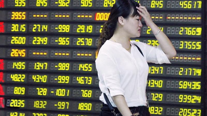 Chứng khoán Trung Quốc giảm điểm mạnh trở lại sau hai phiên tăng - Ảnh: BI.