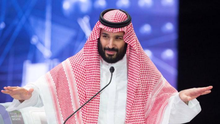Thái tử Mohammed bin Salman phát biểu tại hội nghị đầu tư ở Riyadh ngày 24/10 - Ảnh: Reuters.