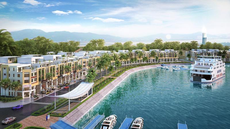 Sự kết hợp hài hòa giữa 2 dạng thức shophouse và mini hotel đã tạo đột phá, nâng tầm giá trị dự án Tuần Châu Marina.