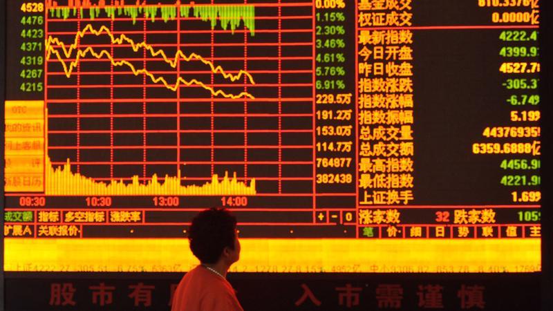 Giảm là xu hướng chính của chứng khoán Trung Quốc thời gian gần đây.