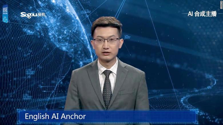 Người dẫn chương trình tin tức AI của Tân Hoa Xã - Ảnh: Tân Hoa Xã.
