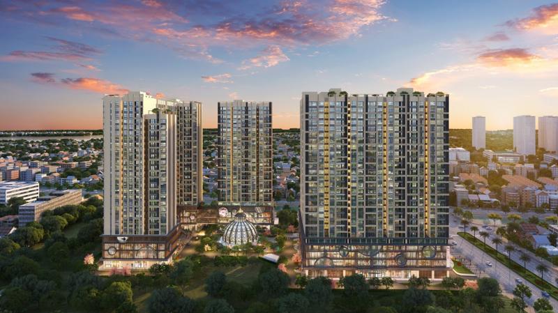 """Hinode City là một trong số ít dự án căn hộ được """"phủ"""" 100% kính Low-E."""