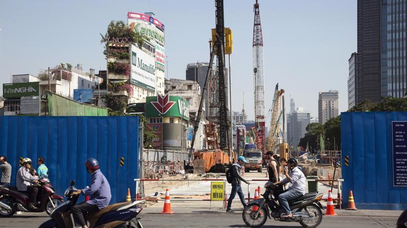 Kinh tế Việt Nam đang tăng trưởng tốt - Ảnh: Bloomberg.
