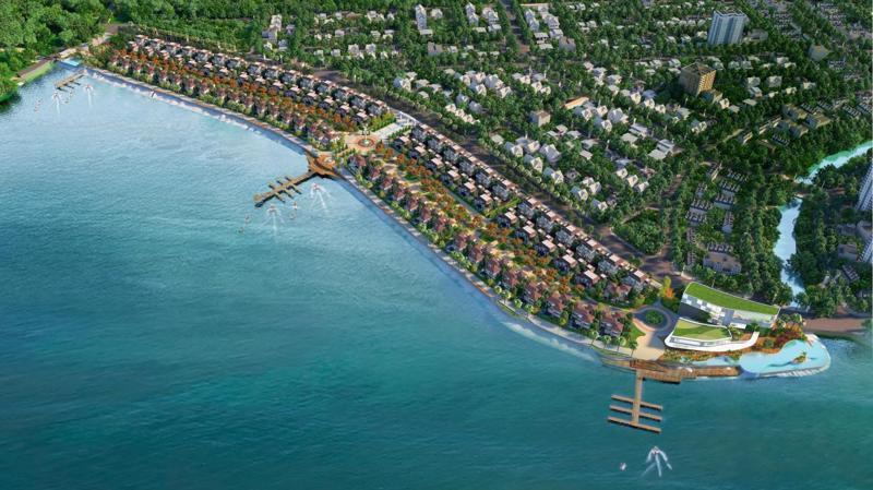 Ha Tien Venice Villas có quy mô 9ha, cung cấp ra thị trường nguồn cung 125 căn biệt thự nằm sát bên vịnh biển.