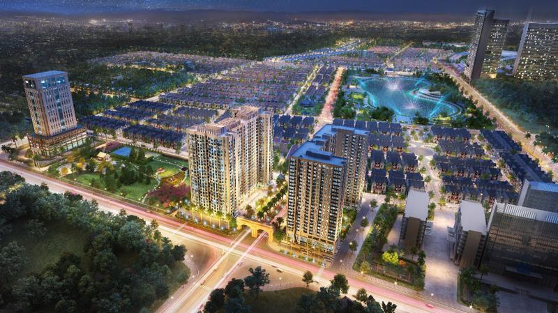 Dự án Anland Comple và Anland Premium trong phối cảnh tổng thể của Khu đô thị Dương Nội.