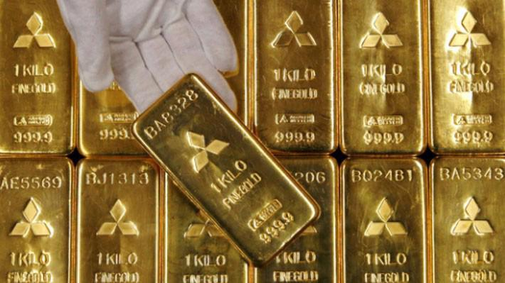 Giá vàng thế giới lập đỉnh 5 tuần trong phiên ngày thứ Ba ở New York - Ảnh: Reuters.