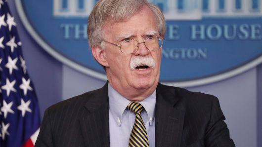 Cố vấn an ninh quốc gia Mỹ John Bolton - Ảnh: Reuters/CNBC.