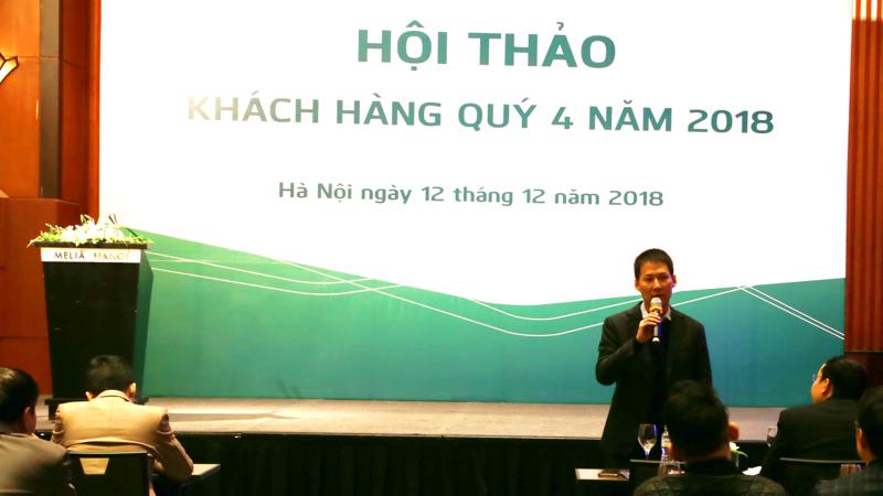 Ông Lê Mạnh Hùng - Giám đốc VCBS phát biểu chia sẻ tại buổi hội thảo.