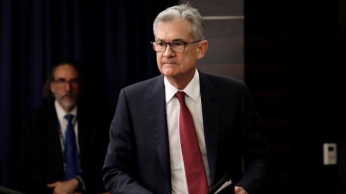 Chủ tịch FED Jerome Powell trong cuộc họp báo ngày 19/12 - Ảnh: Reuters.
