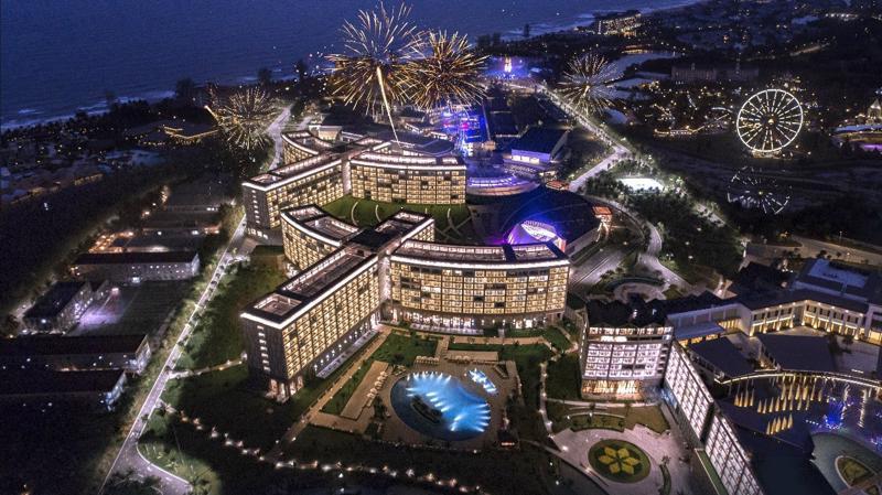 Dự án Casino thuộc quần thể du lịch - nghỉ dưỡng Corona Resort & Casino Phú Quốc tại Bãi Dài, Phú Quốc.