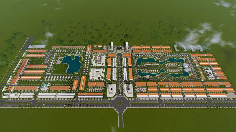 Phối cảnh khu đô thị New City phố Nối - Hưng Yên.