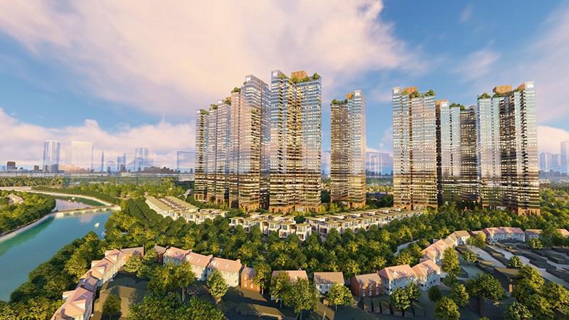 Phối cảnh tổng thể dự án Sunshine City Sài Gòn.