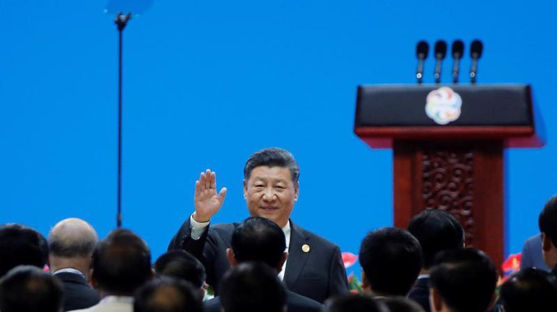 Chủ tịch Trung Quốc Tập Cận Bình tại Hội nghị Đối thoại văn minh châu Á ở Bắc Kinh ngày 15/5 - Ảnh: Reuters.