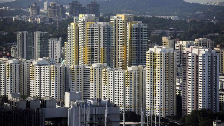 Một khu nhà ở xã hội do Chính phủ Singapore xây dựng - Ảnh:Getty/CNBC.