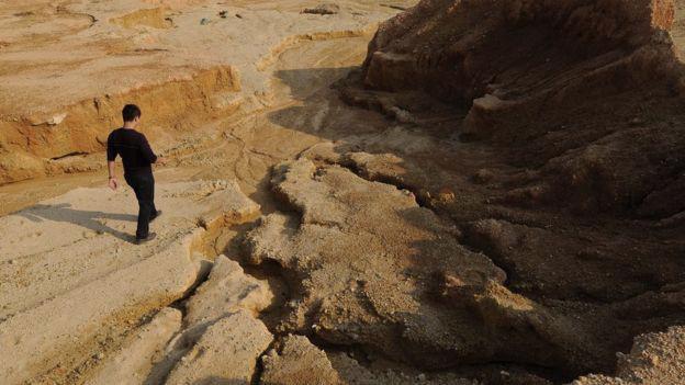 Một mỏ đất hiếm của Trung Quốc - Ảnh: Bloomberg.