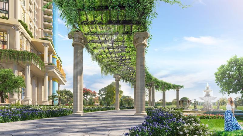 """Không chỉ mang đến cảnh quan thu hút, nơi thư giãn cho cư dân, vườn La Mã 3,000m2 còn đóng vai trò là """"lá phổi xanh"""" tạo nên bầu không khí trong lành cho thành Rome."""
