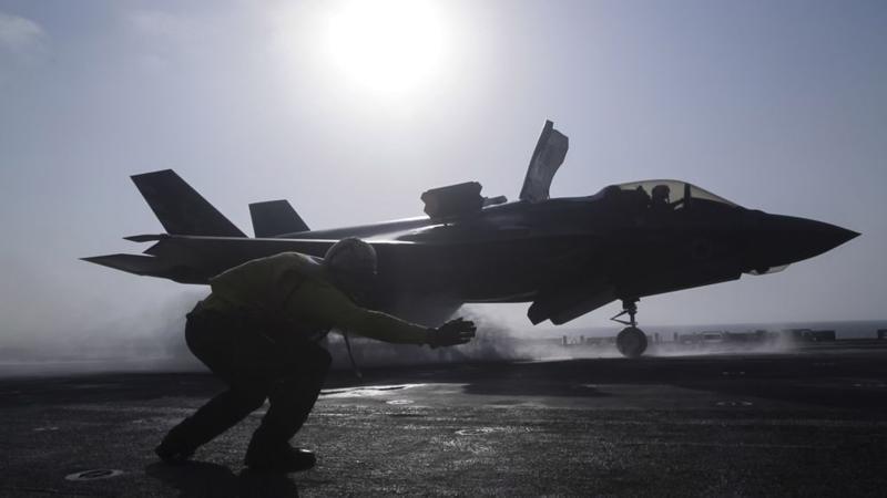 Một máy bay chiến đấu F35 Lightning II của Mỹ - Ảnh: Getty/Bloomberg.