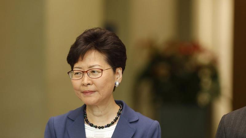 Trưởng đặc khu hành chính Hồng Kông Carrie Lam - Ảnh: Bloomberg.